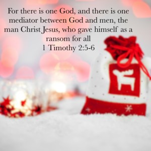 there is only one God and one mediator - Jesus Christ