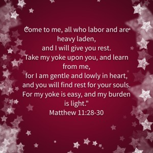 Jesus will give us rest