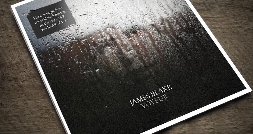 Sleeve design for James Blake - Voyeur
