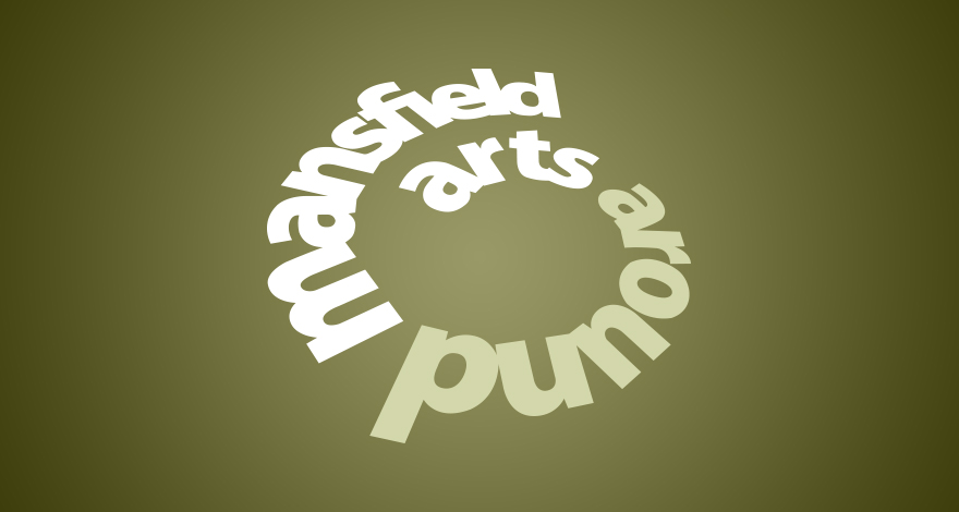 Arts Around Mansfield Logo Design