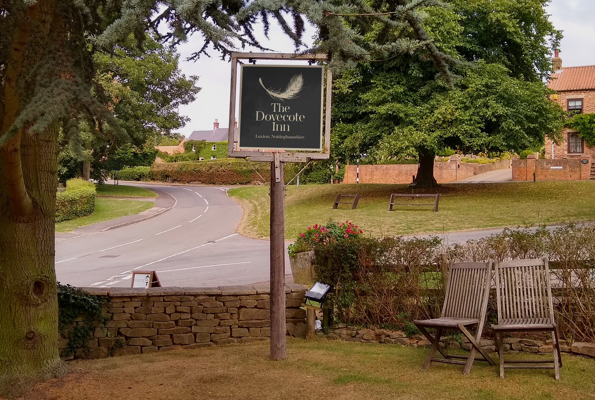 The Dovecote Inn Sign Design