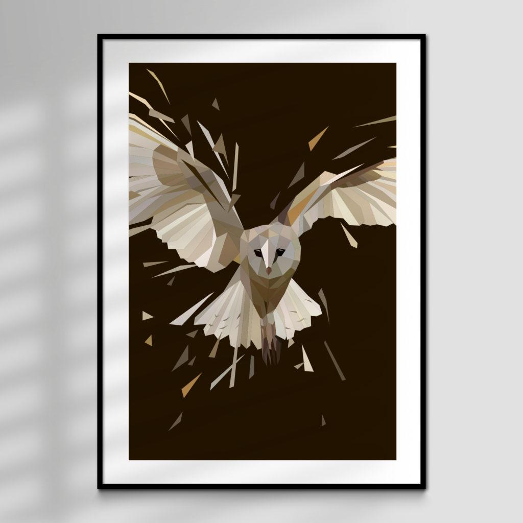 Ghost, Barn Owl High Quality Giclée Print