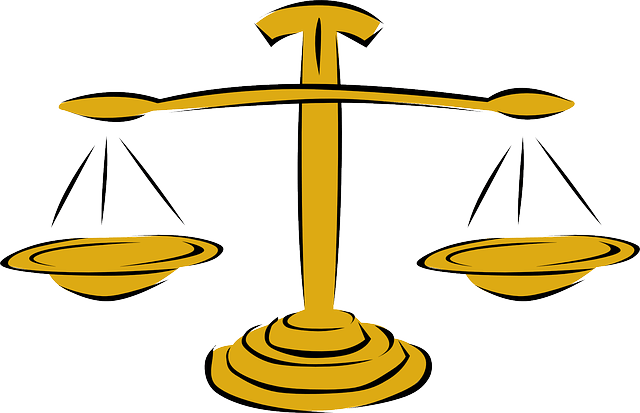 Scales Yellow Weigh Justice Tool