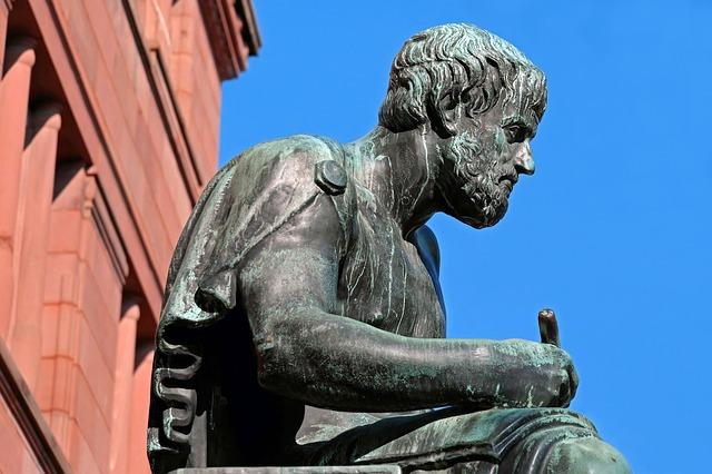 Sculpture Bronze Figure Aristotle