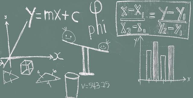 Math Blackboard Education Classroom