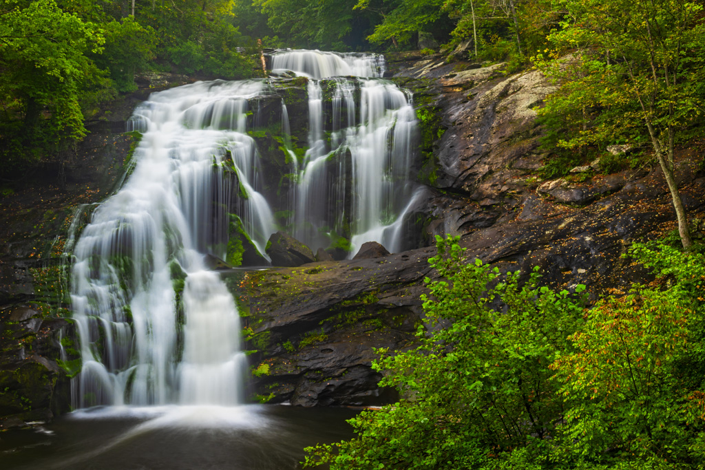 Bald River Falls Smoky Mountains waterfall