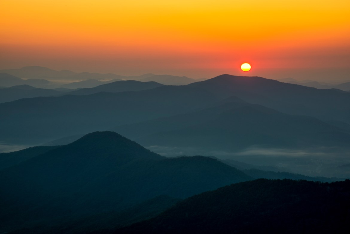 Smoky Mountains sunrise photography