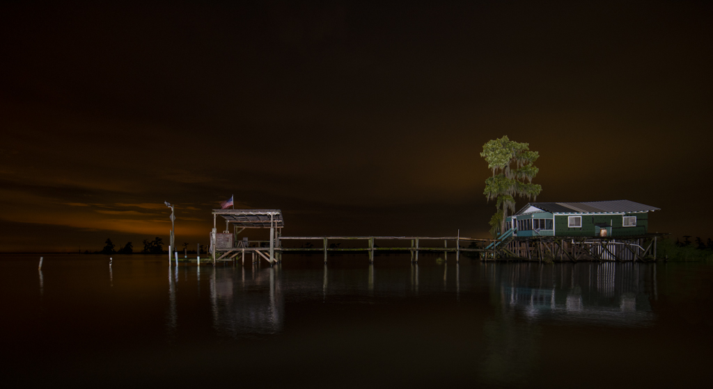 louisiana swamp photography light painting nighttime