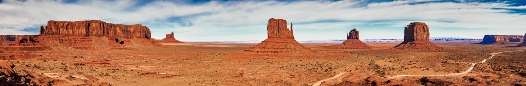 Monument Valley panoramic photography