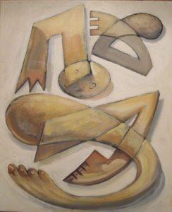 Abstract Nude (Acrylic on canvas 60cm x 50cm)
