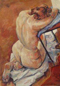 Nude Figure (Acrylic on card 100cm 80cm)
