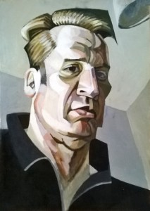Portrait of the Artist as a Middle Aged Tyro (Acrylic on Paper on Board 58cm x 83cm)