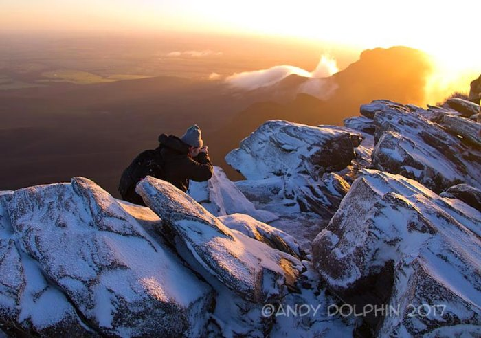 michael-shooting-sunrise-in-Bluff-Knoll-snow-dolphin