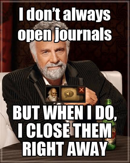 On Diablo 3 journals..
