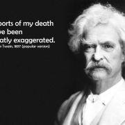 Mark Twain tales of my death