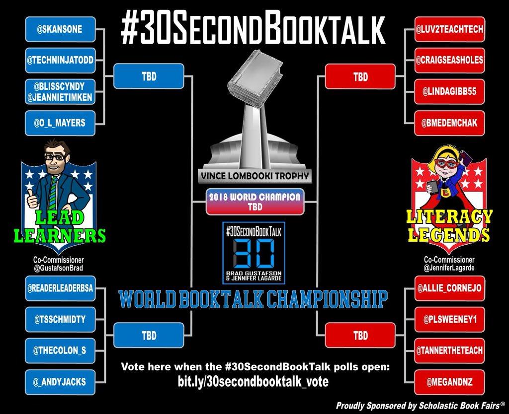 #30SecondBookTalk Tournament
