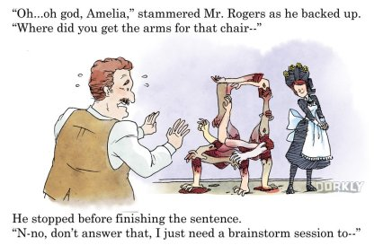 Dorkly, excerpt from 'Amelia Bedelia is Actually Pretty Terrifying'