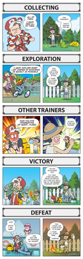 Dorkly, 'The Difference Between Pokemon Players and NPCs'