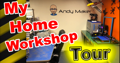My Home Workshop Tour, My Home DIY Maker Workshop Tour YouTube Video
