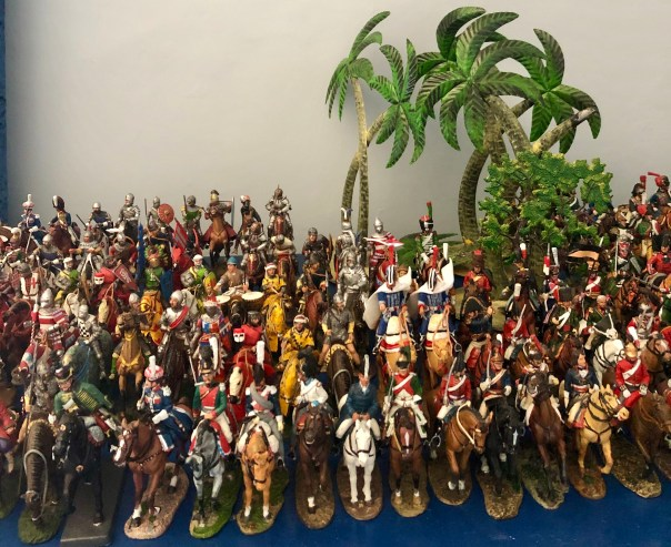 A small selection Del Prado Napoleonic and Ancients on horseback on request at Andy Morant Toys, Portobello road market.