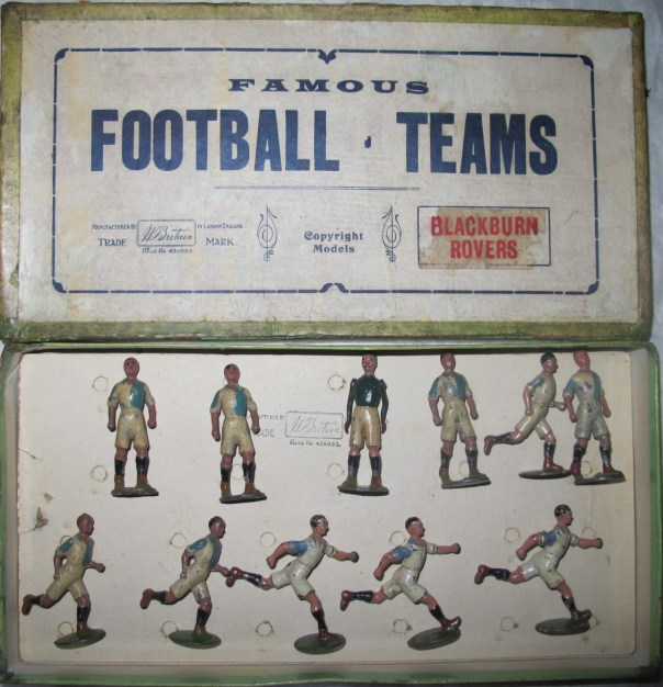 A boxed set made by Britains, Blackburn Rovers Fc. Lead toy figures made prior to 1939.