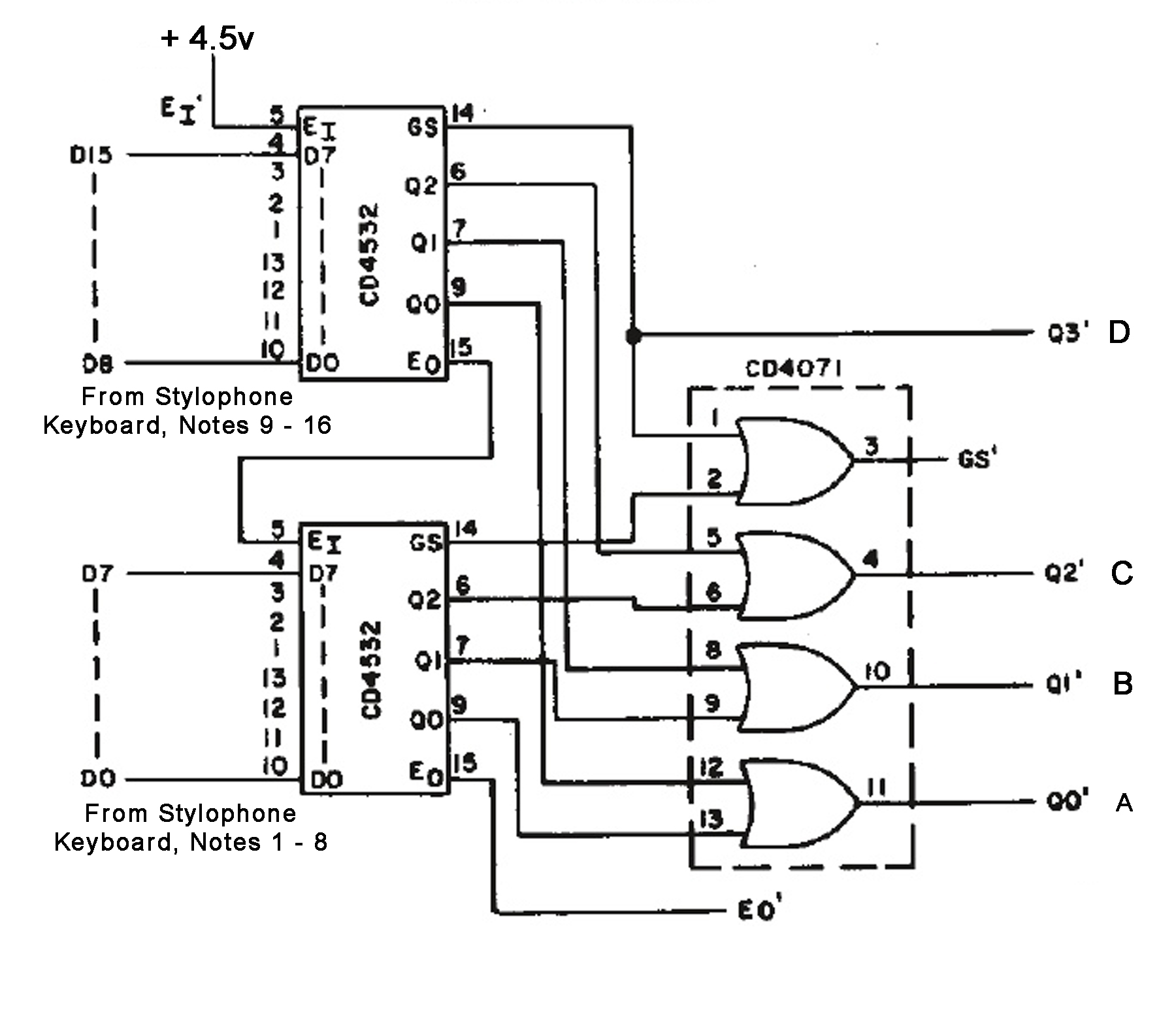 encoder circuit diagram