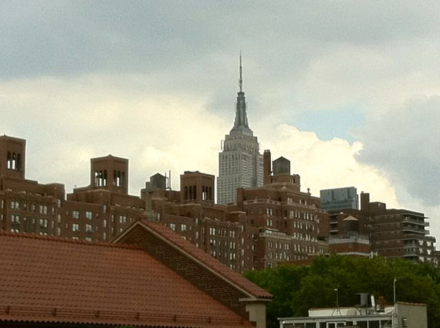 Empire State Building from the High Line Park (2011).