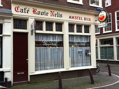 Cafe Rooie Nelis in Jordaan District in Amsterdam