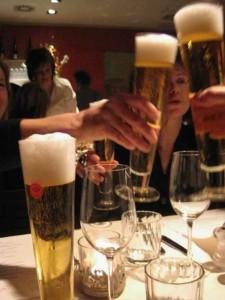 Trumer Pils at Gaumenspiel Restaurant Vienna