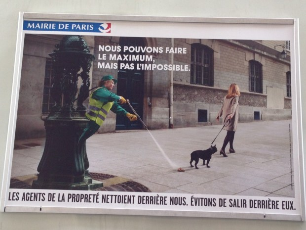 Paris: Advertisement on side of recycling truck.