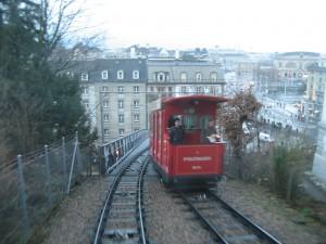 Zürich Polybahn, January 2008.