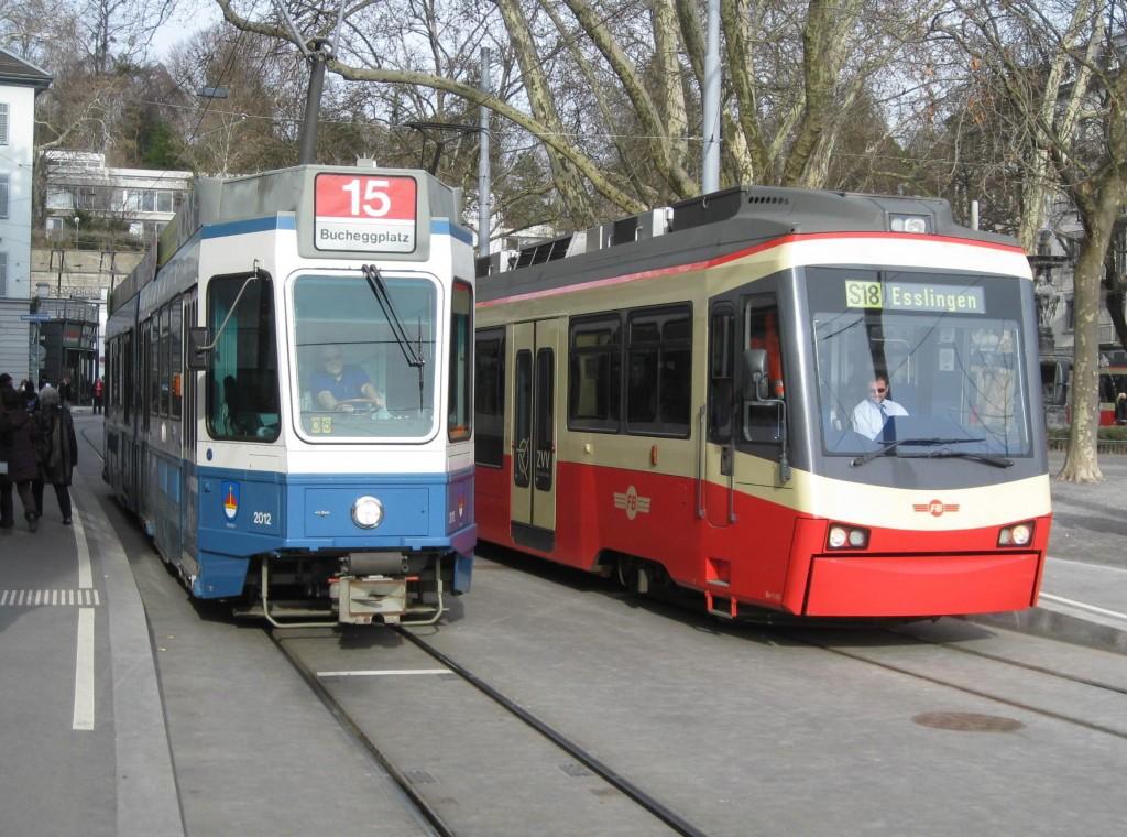 Zürich Stadelhofen Station Trams, 2010.