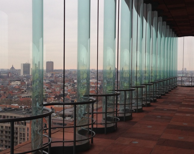 MAS Museum Antwerp - view from one of the sky lobbies.