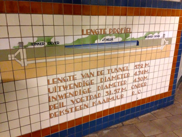 Tile diagram of St Anna Pedestrian Bike Tunnel Antwerp.