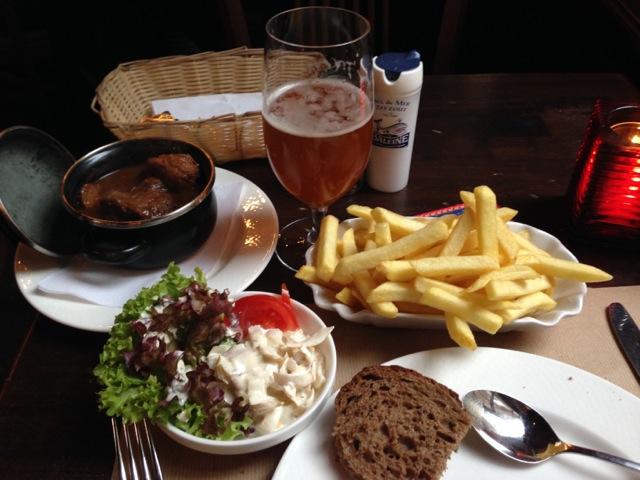 Carbonnades at De Groote Witte Arend restaurant Antwerp.