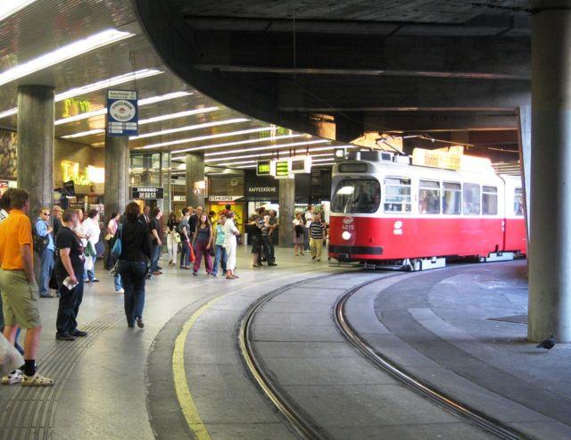Vienna Shottentor Tram Station - underground.