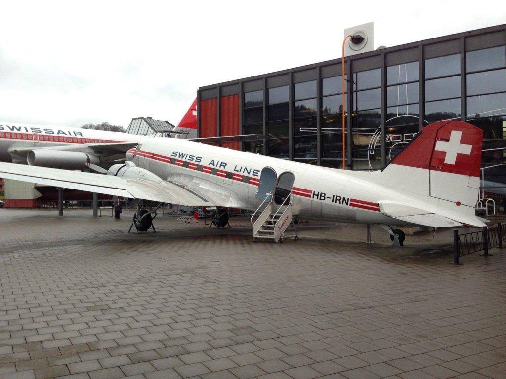 Photo of DC-3 at Verkehrshaus Luzern (2012).