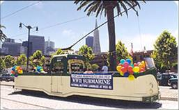 Historic tram from Brighton in San Francisco.