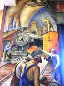 Transport mural from San Francisco's Coit Tower.