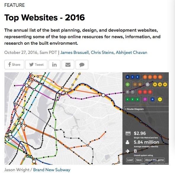Planetizen Best Websites 2016