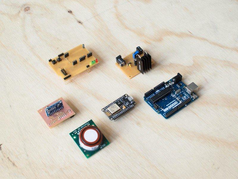 Photo of sensors developed in EU making sense project.