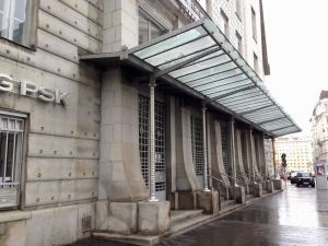 Photo of Postsparkasse entrance in Vienna
