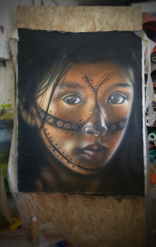 Munduruku tribespeople portraits