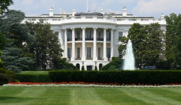 The south lawn of the white house