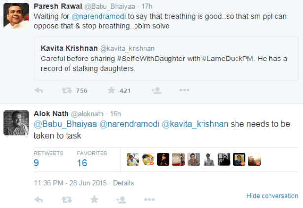 Paresh Rawal tweets in support of Alok Nath