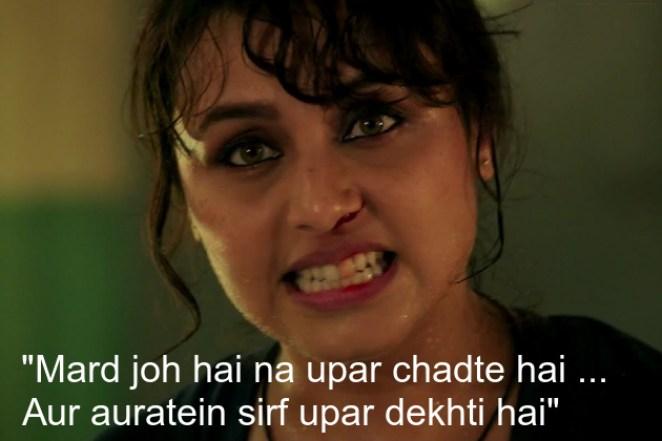 """Rani Mukherjee in and as 'Mardaani"""""""