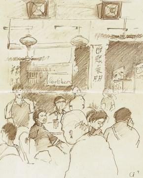 """CF Restaurant - 6x8"""" - pencil"""