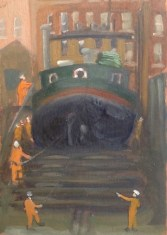 "Slipway Boat, Ramsgate - 6x8"" - Oil on panel."
