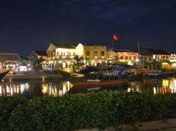 Boats line the docks at the gorgeous old town, a UNESCO world heritage site.