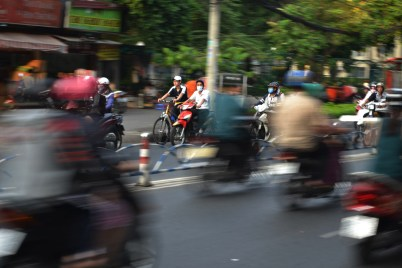 I love this photo – shows how manic the city can be with millions of scooters whizzing past.